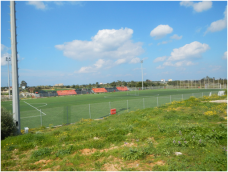 Here is the stadium that I play soccer in with my Greek team. It's a bit smaller than the average field but it is great nonetheless.