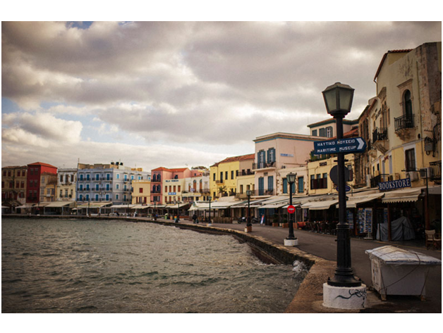 This is a picture of the waterfront of Chania. It is the only major city on the West side of the island, so we do most of our shopping here.