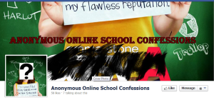 A screenshot of the Anonymous Online School Confessions Facebook page